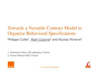 Towards a Versatile Contract Model to Organize Behavioral Specifications