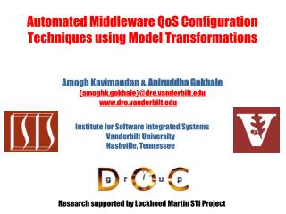 Automated Middleware QoS Configuration Techniques using Model Transformations