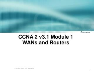 CCNA 2 v3.1 Module 1  WANs and Routers
