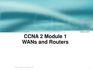 CCNA 2 Module 1  WANs and Routers