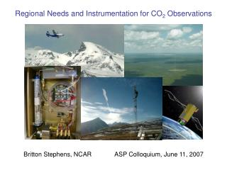 Regional Needs and Instrumentation for CO 2  Observations