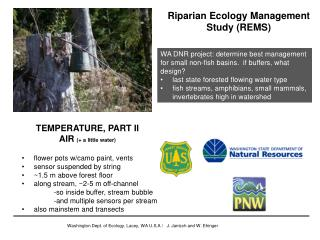 Riparian Ecology Management Study (REMS)