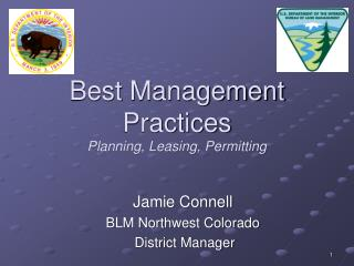 Best Management Practices Planning, Leasing, Permitting