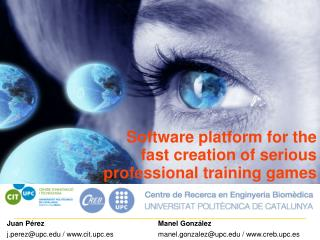 Software platform for the fast creation of serious professional training games