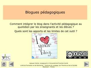Blogues pédagogiques