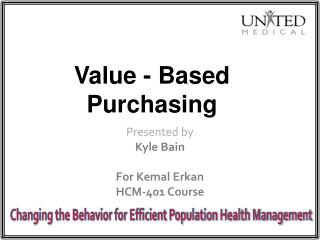 Value - Based Purchasing