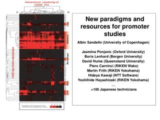 New paradigms and resources for promoter studies