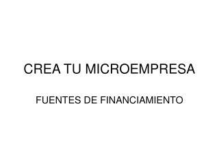 CREA TU MICROEMPRESA