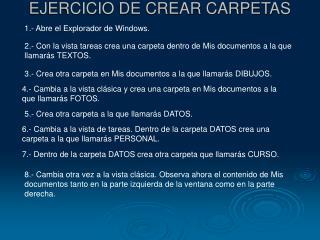 EJERCICIO DE CREAR CARPETAS