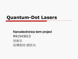 Quantum-Dot Lasers