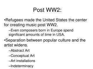 Post WW2: