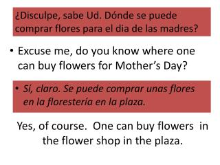 Yes, of course.  One can buy flowers  in the flower shop in the plaza.
