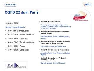 CQFD 22 Juin Paris