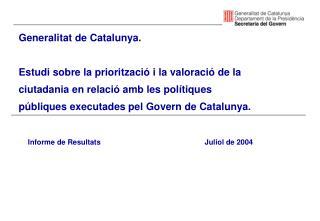 Generalitat de Catalunya.