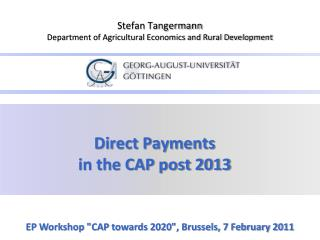 Direct Payments  in the CAP post 2013