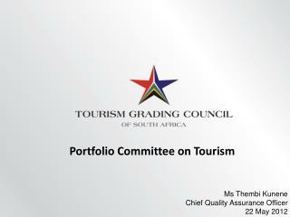 Portfolio Committee on Tourism