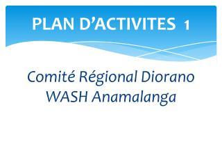 PLAN D'ACTIVITES  1