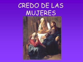 CREDO DE LAS MUJERES