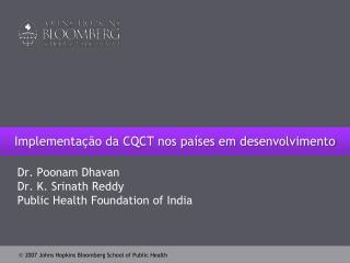 Implementação da CQCT nos países em desenvolvimento