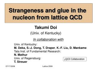 Strangeness and glue in the nucleon from lattice QCD