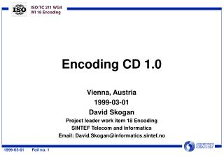 Encoding CD 1.0