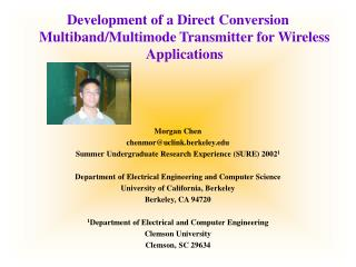 Development of a Direct Conversion Multiband/Multimode Transmitter for Wireless Applications