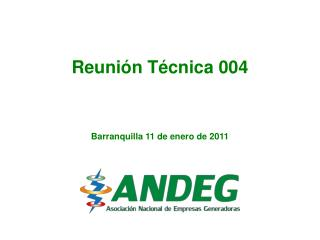 Reunión Técnica 004 Barranquilla 11 de enero de 2011