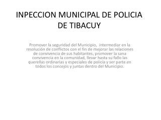 INPECCION MUNICIPAL DE POLICIA  DE TIBACUY