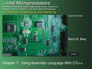 Chapter 7:  Using Assembly Language With C/C++