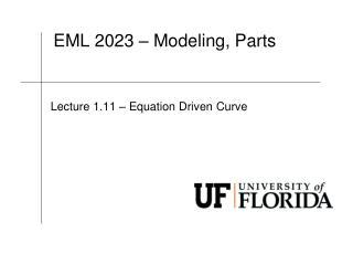EML  2023 – Modeling, Parts