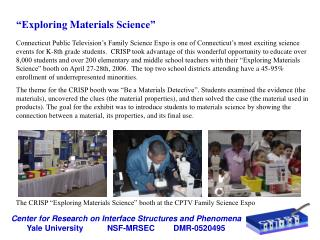 """Exploring Materials Science"""