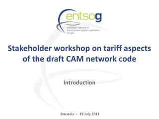 Stakeholder workshop on tariff aspects of the draft CAM network code