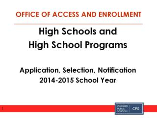 High School Application Process 2014 2015 DETAILED VERSION For presentations