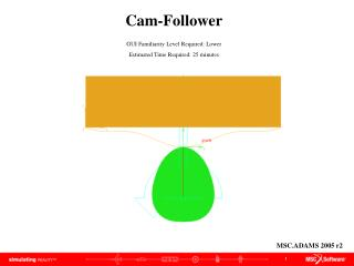Cam-Follower GUI Familiarity Level Required: Lower Estimated Time Required: 25 minutes