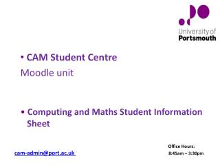 Computing and Maths Student Information       Sheet