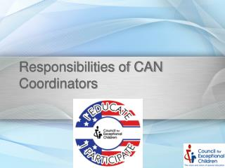 Responsibilities of CAN Coordinators
