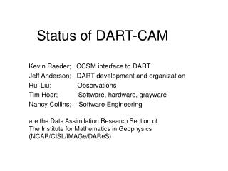 Status of DART-CAM