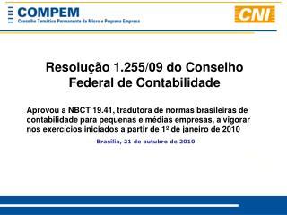 Resolução 1.255/09 do Conselho Federal de Contabilidade