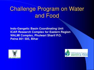 Challenge Program on Water and Food