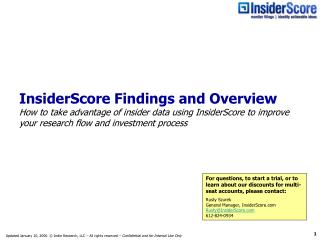 Unlock the value of insider data with InsiderScore's proprietary service