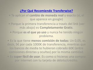 cuant cuenta transferwise