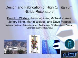 Design and Fabrication of High  Q i  Titanium Nitride Resonators