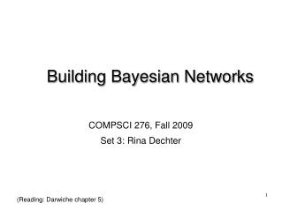 Building Bayesian Networks