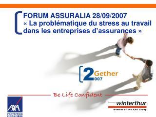 Gestion du stress chez AXA