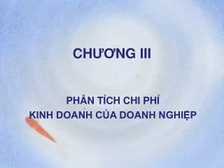 CH ƯƠ NG III