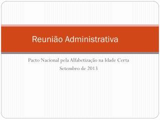Reunião Administrativa