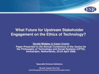 What Future for Upstream Stakeholder Engagement on the Ethics of Technology?