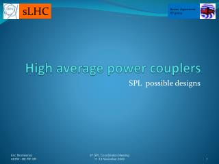 High average power couplers