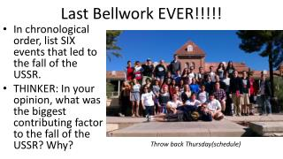 Last Bellwork EVER!!!!!