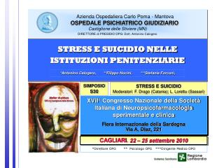 XVII° Congresso Nazionale della Società Italiana di Neuropsicofarmacologia sperimentale e clinica